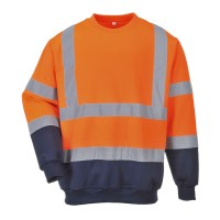 Sweatshirt bicolore HiVis orange / marine PORTWEST